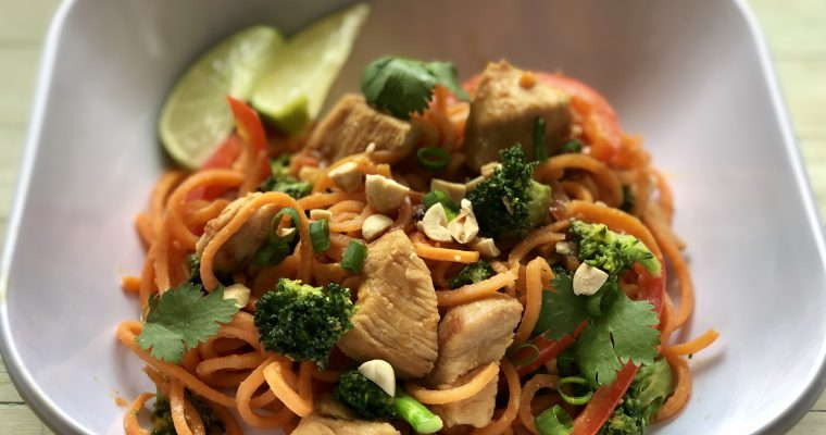 Chicken & Sweet Potato Pad Thai